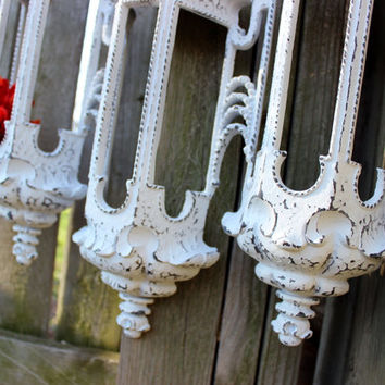 Vintage Burwood Wall Sconce Shabby Chic , Vintage Wedding & Paris Apartment Decor