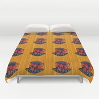 Tea Party Duvet Cover by Kathleen Sartoris
