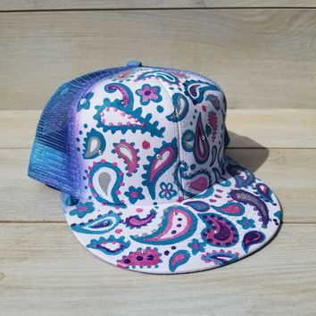 Hand painted  paisley