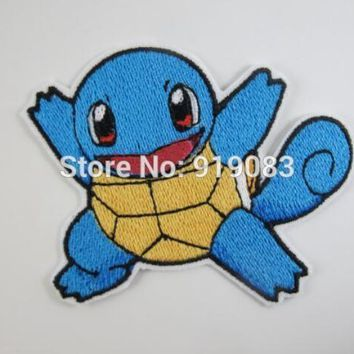 """3"""" Squirtle  Go patch  tv movie Embroidered Emblem applique iron on patch halloween cosplay costumeKawaii Pokemon go  AT_89_9"""