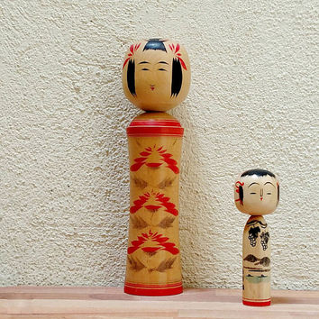 Large Naruko Kokeshi Doll / Japanese / Signed /  Vintage Japanese / 1950s / Wood Doll / Token of Friendship / Boho decor / Folk Art