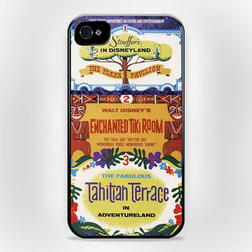 Tiki Room Vintage Disney iPhone 4 4s Case