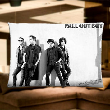 "Fall Out Boy FOB Music band Pillow Case Cover Bedding 30"" x 20"" Great Gift"