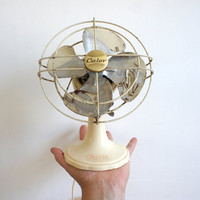 Vintage French Electrical Fan // 1950 Mid Century Design // Calor Metal and Bakelite // Summer Heat Wave // Cream Beige Neutral Home Decor