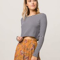 FULL TILT Stripe Womens Crop Top