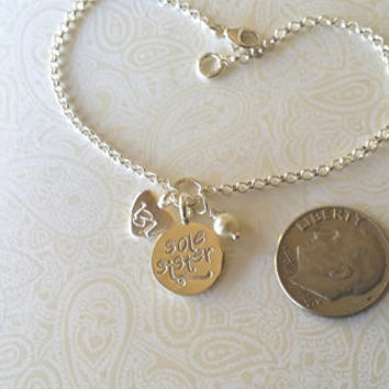 13.1 Sole Sister Sterling and Thai Silver Charm Bracelet--Runners Jewelry--Gift for Runner/Running Partner