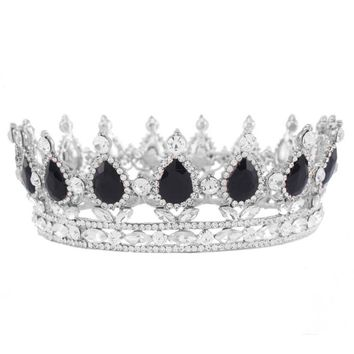 """Whitney"" Silver + Jewel Birthday Tiara"