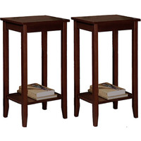 Walmart: Rosewood Coffee Brown Tall End Tables - Value Bundle