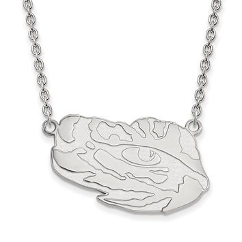 NCAA Sterling Silver Louisiana State Large Pendant Necklace