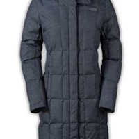 Gliks - The North Face Metropolis Down Parka for Women in Graphic Grey Heather