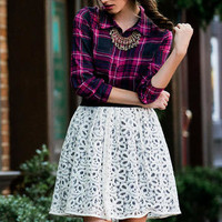 CHELSEA LACE SKIRT
