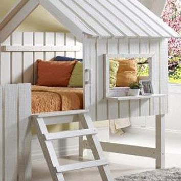 Lily White Fort Loft Bed