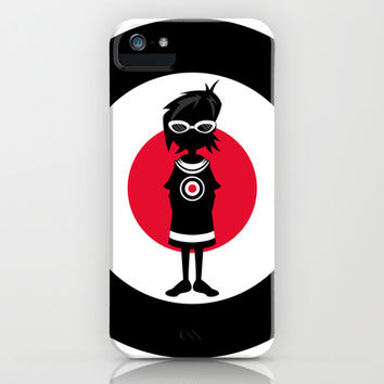 Mod Girl Illustration iPhone & iPod Case by markmurphycreative