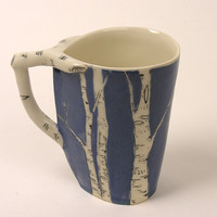 New Color Blue Birch Cup by JosiesPotShop on Etsy