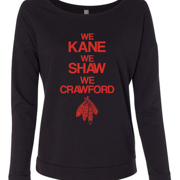 We Kane We Shaw We Crawford Longsleeve. Funny Sport Shirt Great Gift Ideas. Next Level Ladies Long Sleeve Scoopneck 6931