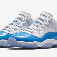 Air Jordan Retro 11 Low University Blue And White Basketball Shoes Men 11s Low White Blue Athletics Sneakers With Shoes Box