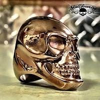 'Carried Away' Big, Bold & Heavy Steel Skull Ring (140Bronze)