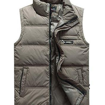 Vcansion Men's Classic Outwear Down Vest Lightweight Stand Collar Quilted Down Coat  Canada Goose Men's