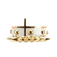 Spike, Stud & Cross Bracelet Set: Charlotte Russe