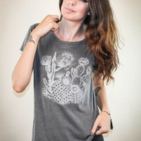 Cactaceae Boyfriend Tee - Made in the USA, cactus, cacti, southwest, boho, desert, graphic tee