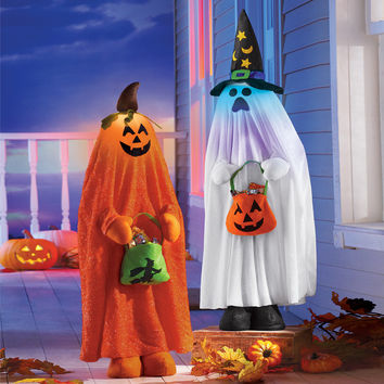 Lighted Halloween Character Decorations-Pumpkin