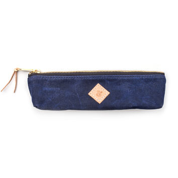 SMALL WAXED CANVAS POUCH (NAVY)