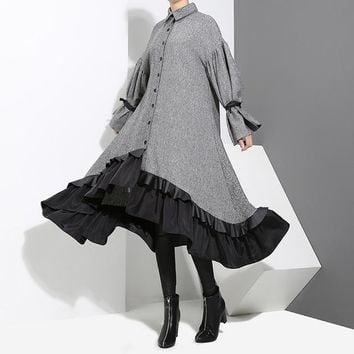 Gloth Layered Ruffle Dress