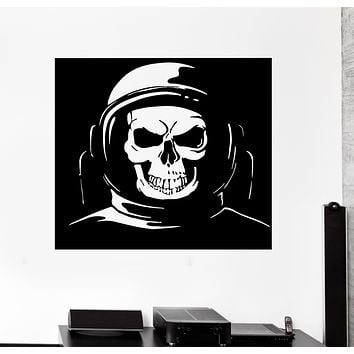 Wall Decal Skeleton Skull Astronaut Cosmos Space Suit Universe Vinyl Sticker (ed1601)