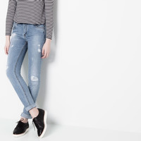 HIGH RISE STRAIGHT LEG JEANS - JEANS - WOMAN - PULL&BEAR United Kingdom