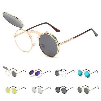 PEAPYV3 Round Steampunk Sunglasses Retro Punk Eyeglasses Men Women Summer Sunglasses Brand Designer Vintage Circle Glasses D1
