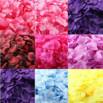 1000pcs Burgundy Silk Rose Artificial Petals Wedding Party Flower Favors Decor 1000pcs Bourgogne Soie Rose Artificielle Pétales