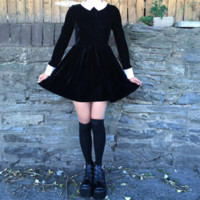 WEDNESDAY ADDAMS LONG SLEEVE DRESS- SPECIAL SALE
