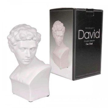 Michelangelo's David Ceramic Statuette Coin Bank (pack of 6)