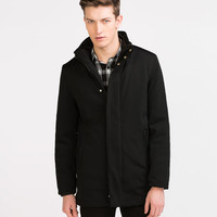 TECHNICAL FABRIC THREE-QUARTER LENGTH COAT