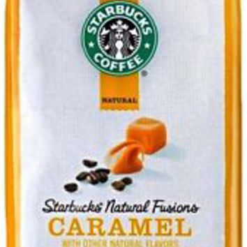 Starbucks Natural Fusions Ground Coffee Caramel Flavored 11 oz Package free ship