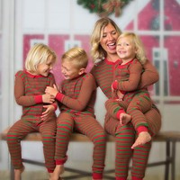 Sleepyheads Family Matching Red & Green Thermal Onesuit's