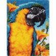 Spinrite Wonderart Classic Latch Hook Kit, 20 by 27-Inch, Macaw
