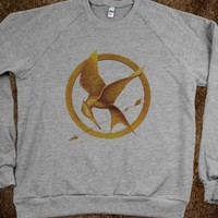 MOCKING JAY PIN CREWNECK SWEATER