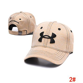 Under Armour Popular Women Men Embroidery Sports Sun Hat Baseball Cap Hat 2#