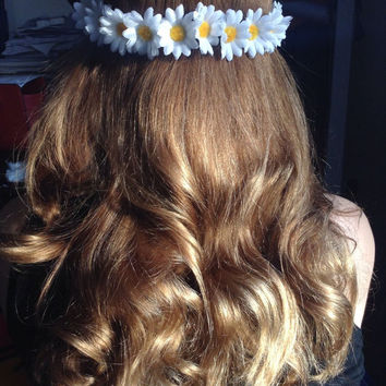 Daisy Boho Bohemian Floral Flower Crown Headband