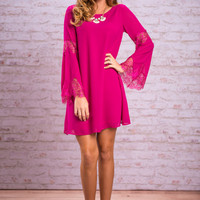 Elegant Efforts Dress, Magenta