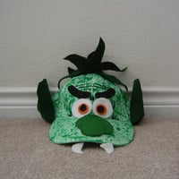 trolls of goat hat costume. Eco friendly toy. Recycled hat. Costume for kids and adults. trolls of goats mask costume.