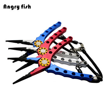 Aluminum Fishing Pliers Split Ring Cutters Fishing Hooks Remover Fishing Clamp Tackle L2 Double Colors