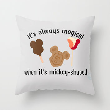 Disney Food Throw Pillow by Madeline