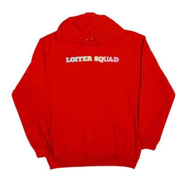 LOITER SQUAD LOGO HOODIE RED – Odd Future
