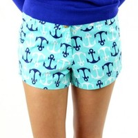 Necessary Nautical Shorts in Teal - gigi's Boutique