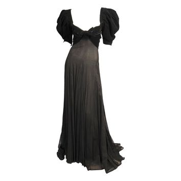 Yves Saint Laurent Numbered Haute Couture Evening Dress