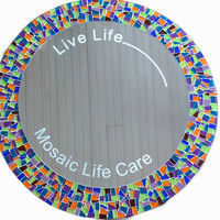 Mirror Etching, Add Words to your Custom Mosaic Mirror