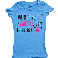 Girls 'No U In Awesome' Graphic Tee