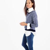 Tweed pullover sweater